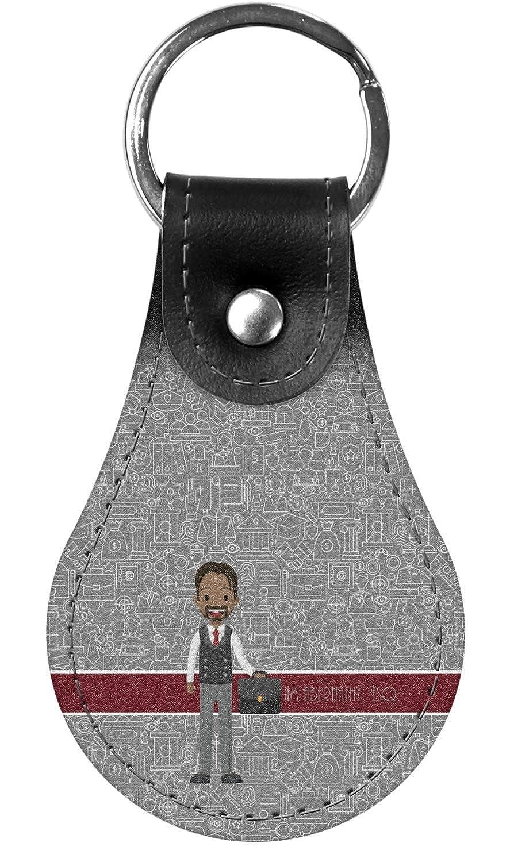 Personalized Lawyer//Attorney Avatar Genuine Leather Keychain