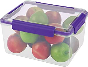 SnapLock by Progressive 30-Cup Container - Purple, SNL-1012PEasy-To-Open, Leak-Proof Silicone Seal, Snap-Off Lid, Stackable, BPA FREE