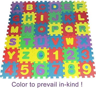 36PCS Grand Tappetino Puzzle Set 26 Lettere Alfabeto 10 Numeri Gioco Bambini