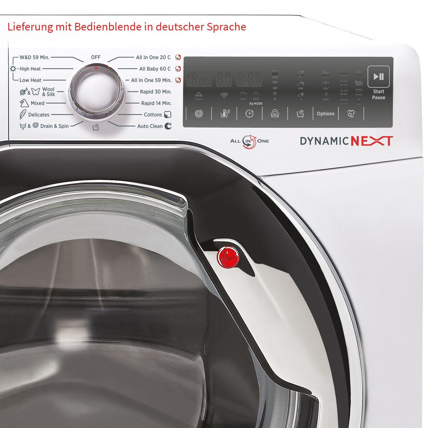 Hoover wdxa 585 a/1 - 84 Blanco wascht rockner 2 en 1, 8 kg lavado ...