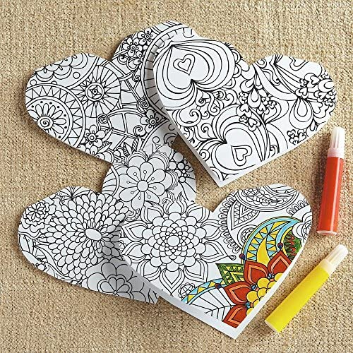 Heart Coloring Cards Sales