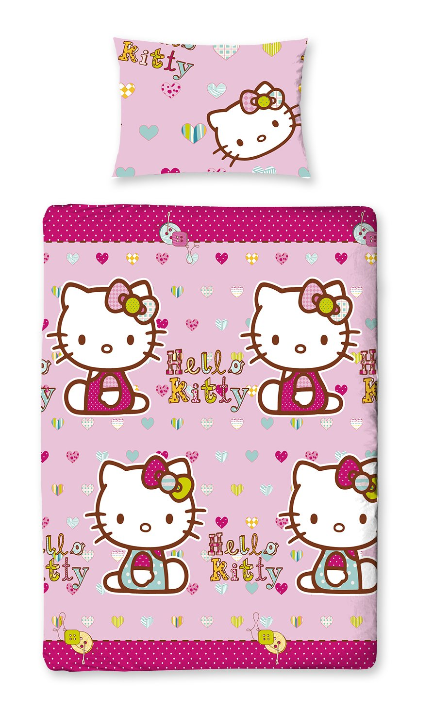 Elegant parure housse de couette simple hello kitty - Housse de couette hello kitty 140x200 ...