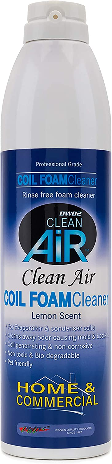 DWD2 Clean Air Foaming Coil Cleaner Home & Commercial self rinsing - Renew Your HVAC! (Lemon)