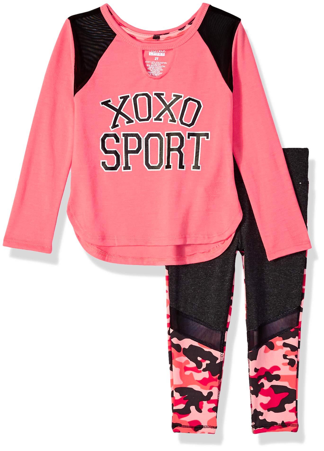 XOXO Girls' 2 Piece Performance Top and Legging Set