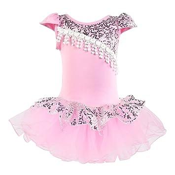 80390df9c3b6f KKia Petites Filles Fitted Mini Danse Dentelle Tulle Tutu Justaucorps  Costume Demoiselle d honneur Robes