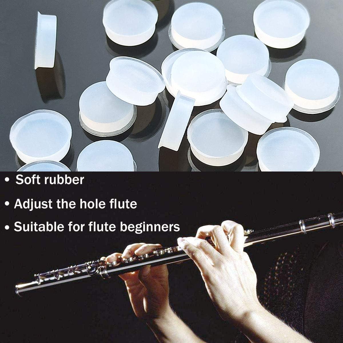 7 X 3mm 20 Pcs Rubber Flute Plugs Silicone Flute Plug Silicone Flute Key Plugs Flute Open Hole Plug Flutes Repair Parts Accessories