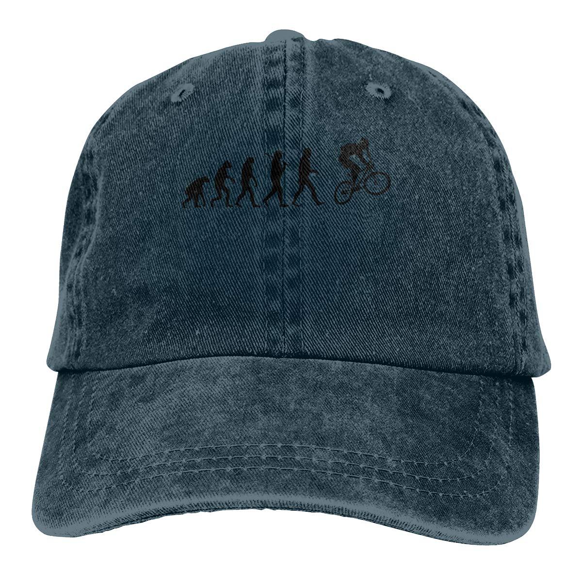 Qbeir Adult Unisex Cowboy Cap Adjustable Hat Motocross Evolution Cotton Denim