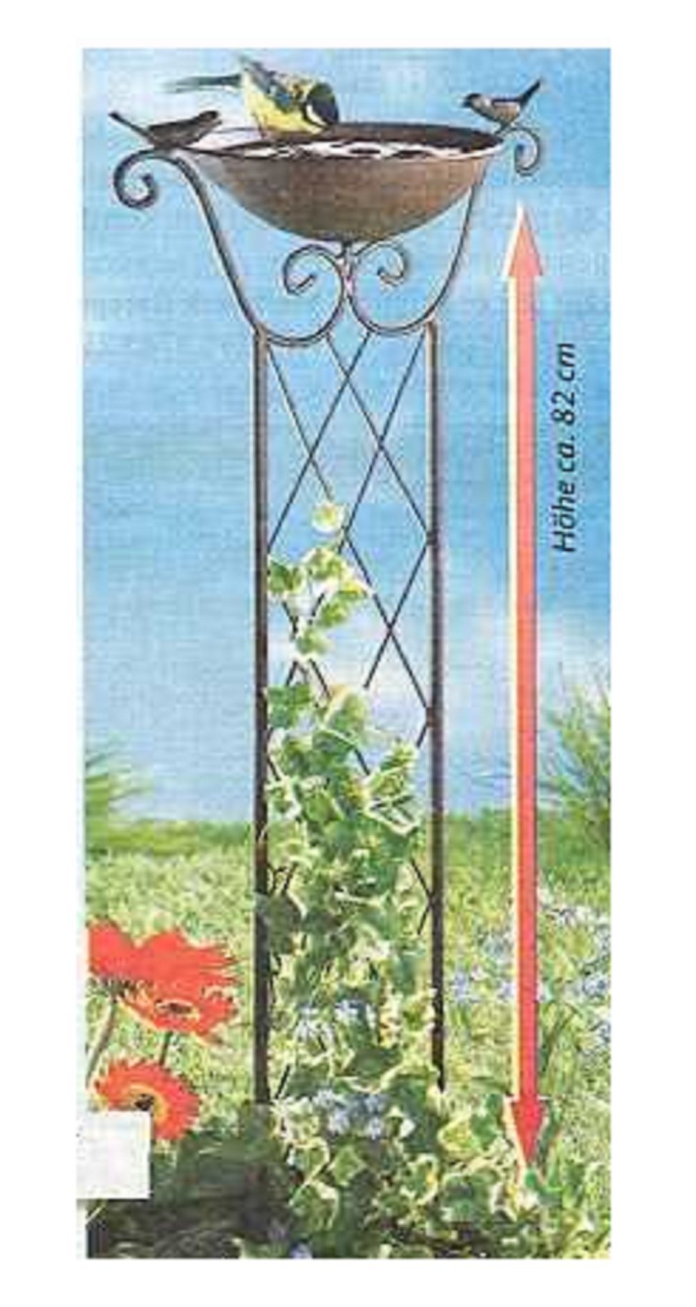 Trenton Gifts Bird Bath And Trellis | Great for Gardens and Yards | By