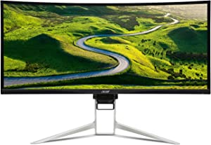 "Acer XR342CK Pbmiiqphuzx 34"" Curved QHD (3440 x 1440) 100Hz Refresh Rate Monitor with AMD FREESYNC Technology (Display Port & 2 x HDMI 2.0 Ports),Black"