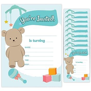 Amazon.com: Tarjetas de invitación de cumpleaños (10 ...