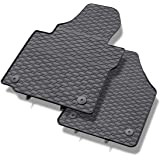 Alfombrillas de goma - 2-piezas - un ajuste perfecto - negro - 5902538448604