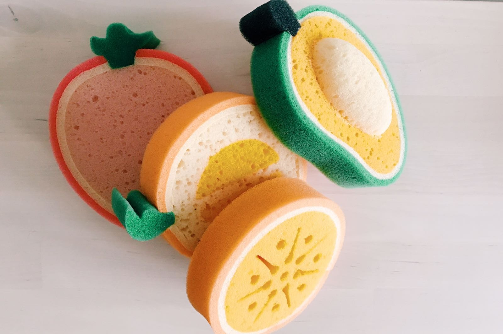 purifyou Premium Kids & Baby Bath Sponge, Set of 4 Fun Fruit Sponges ...