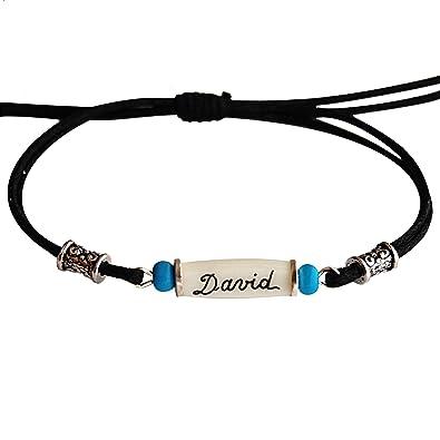 Yves Boucher Bracelet Homme Femme Personnalisé Indien Extensible ... 755f9e1398ae