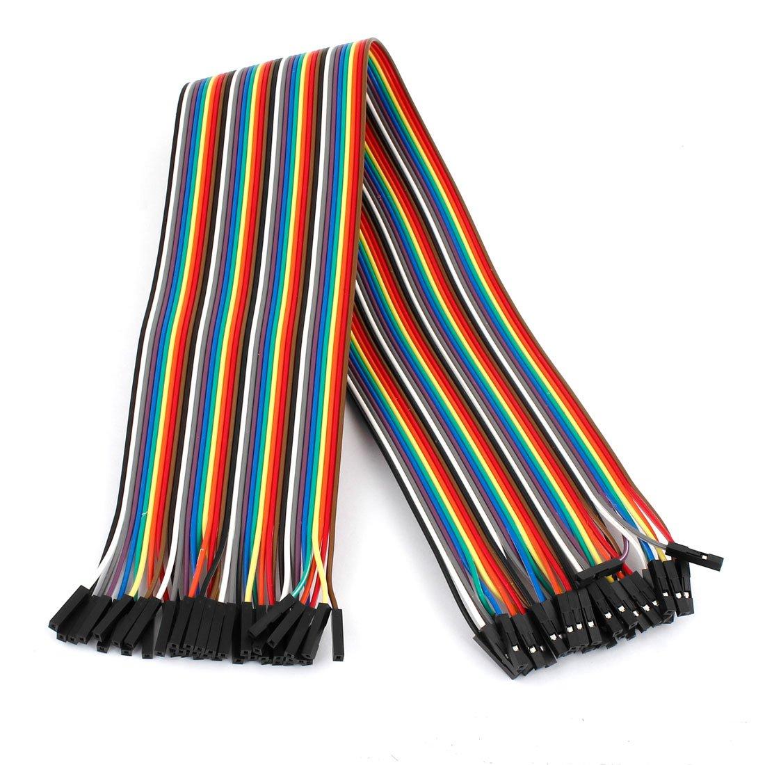 40cm 2.54mm F//F 40 Pin Solderless Colored Breadboard Jumper Wire