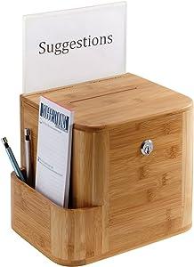 Safco Products 4237NA Bamboo Suggestion Box, Natural