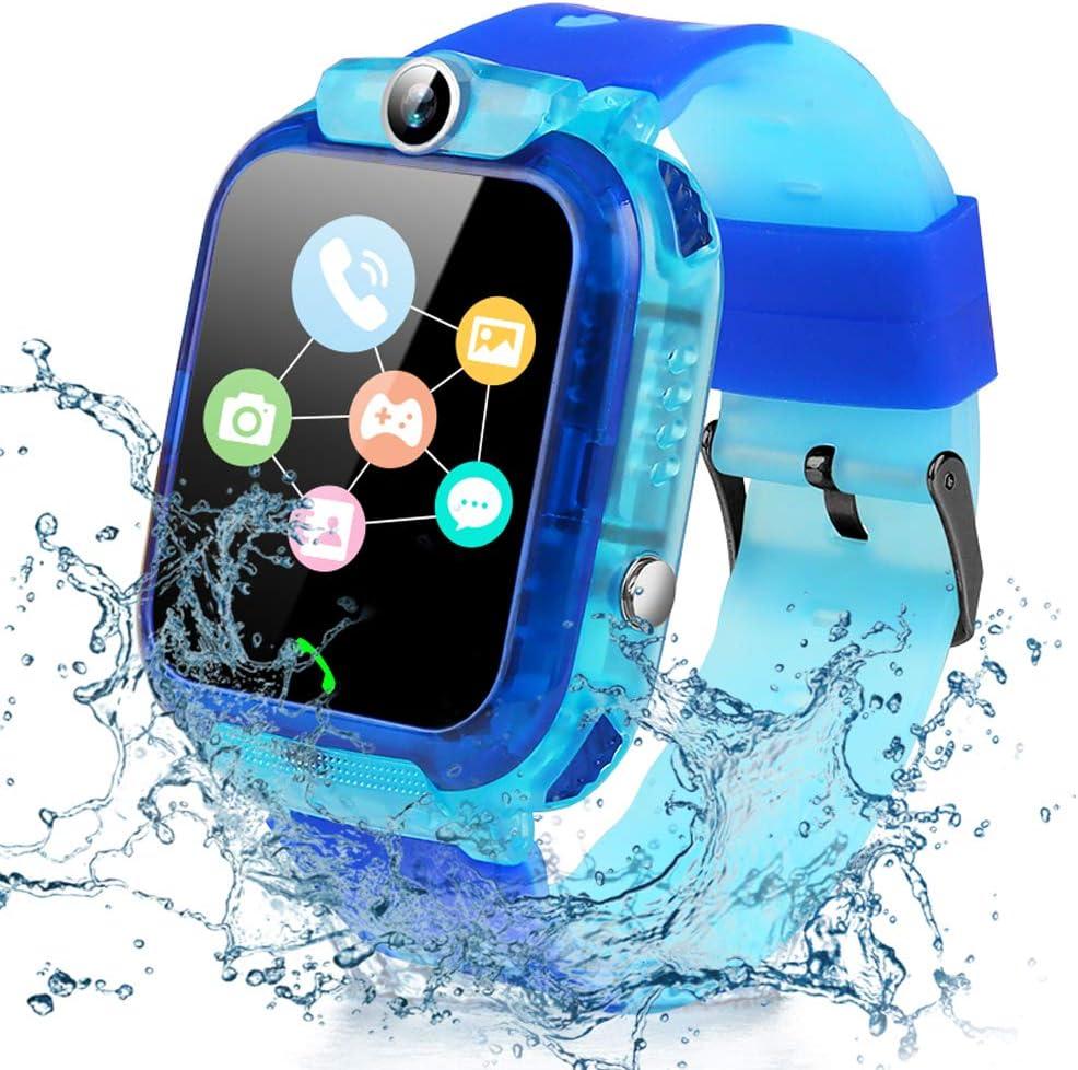 Smartwatch Niños, Reloj Inteligente Niña Niños IP67 LBS, Llamada Bidireccional, SOS Modo de Clase, Cámara, Juegos, Regalo para 3-12 años, Smartwatch ...