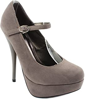 45c3865608d Amazon.com | JJF Shoes N16 Nude Patent Leather Mary-Jane Ankle Strap ...