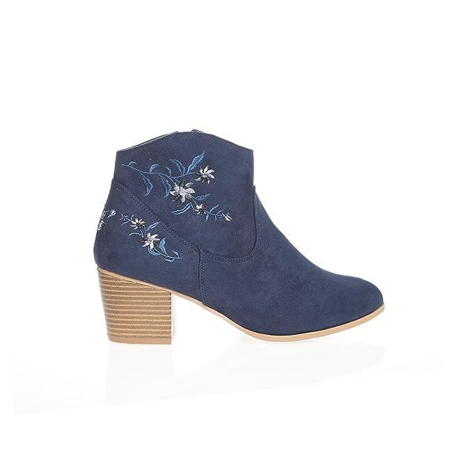 e5d9d2ea66a Botines Tipo Camperos con aplicación Bordada en la caña y contrafuerte by  Vencastyle: Amazon.es: Zapatos y complementos