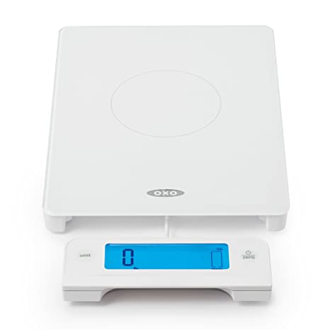 Miraculous Oxo 11176600 Good Grips Digital Glass Food Scale With Pull Out Display 11 Pound White Beutiful Home Inspiration Xortanetmahrainfo