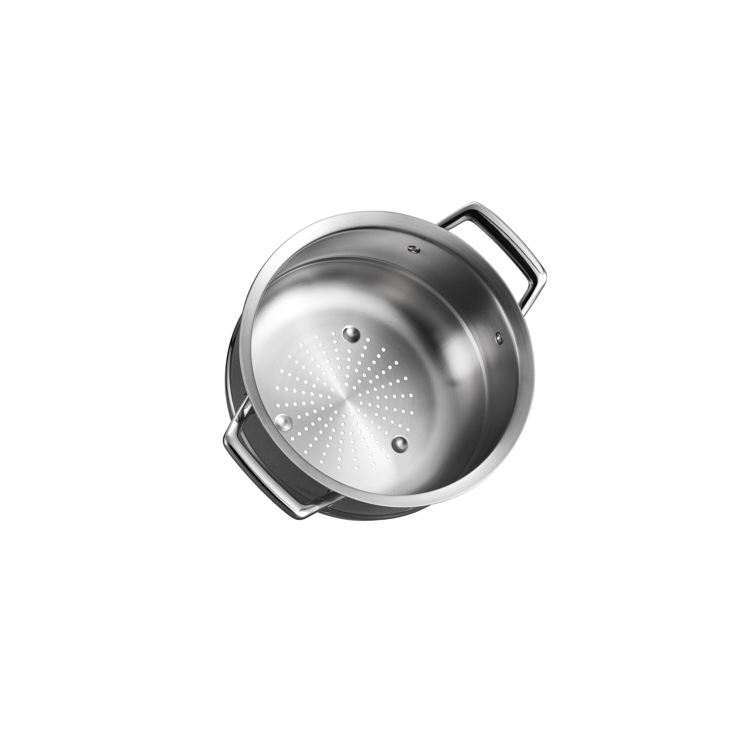 Tramontina 80101/013DS Gourmet Prima Stainless Steel Steamer Insert, 3 Quart, Made in Brazil by Tramontina