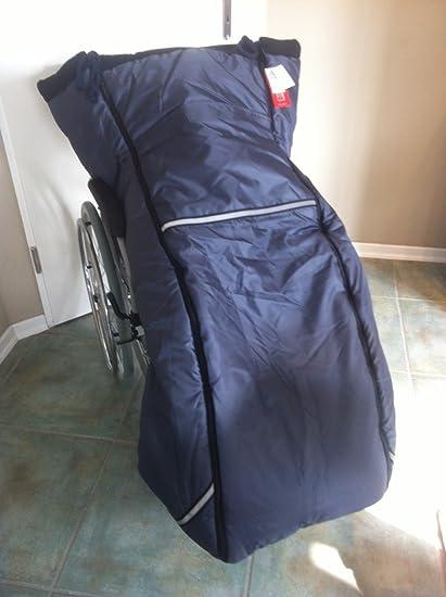 Kaiser Naturfellprodukte 999016 - Saco para silla de ruedas (forro polar), color gris