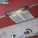 KKOLAR Elly 60 Chimney Stainless Steel Baffle Filters 60cm 720 m3/h - BLACK