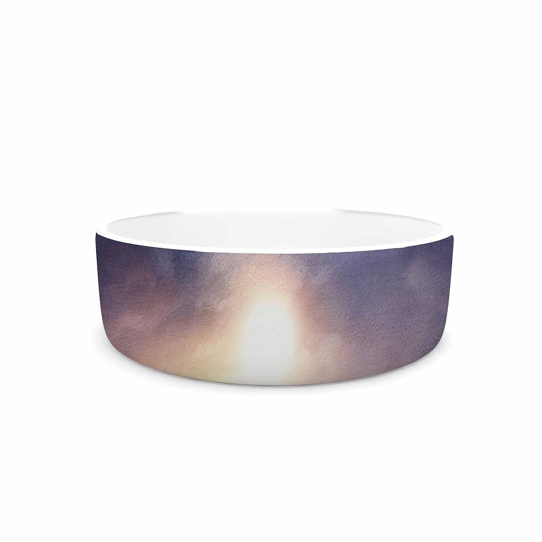 KESS InHouse Viviana Gonzalez Sunset I C. III bluee Purple Illustration Pet Bowl, 7  Diameter
