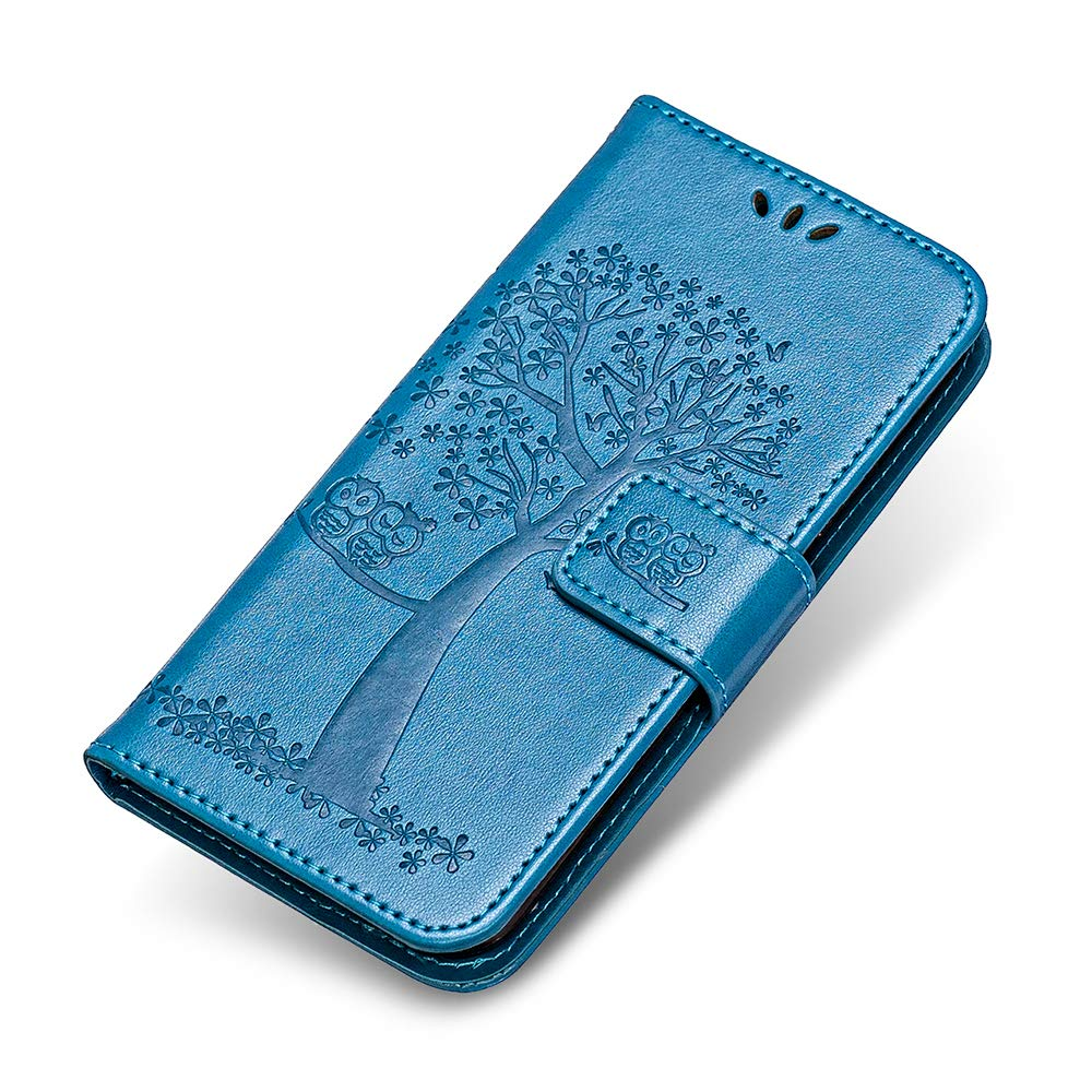 Coque LG Q8, The Grafu® Étui en Cuir Coque avec Fonction de Support, PU Housse à Rabat avec Fermeture Magnétique pour LG Q8, Bleu