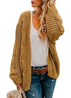 8bcc289ae1 Dearlove Women Open Front Chunky Knit Cardigan Sweaters Loose Outwear Coat