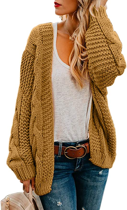 Super cozy chunky oversized cardigan perfect for Fall weather