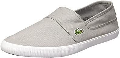 346924c212e8 Image Unavailable. Image not available for. Colour  Lacoste Marice LCR Grey  White Canvas Mens Slip-ons Shoes