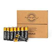 NANFU Premium Alkaline AAA Battery (20 Pack), LR03 1.5v Leak Proof Long Lasting Triple A Batteries, Non-Rechargeable for…