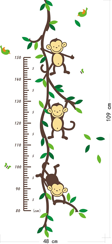 Amazon naughty monkey juggling on tree branches monkey wall amazon naughty monkey juggling on tree branches monkey wall decal nursery wall decal baby amipublicfo Images