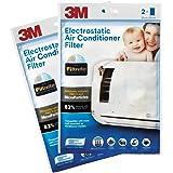 3M Non-Woven Fiber Electrostatic Air Purifying Filter for Split ACS (White, 2 Packs)