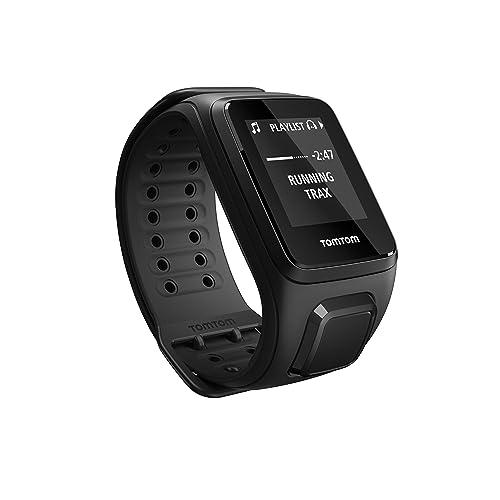 TomTom Spark Music Orologio GPS per il Fitness, Lettore Musicale Integrato, Activity Tracker 24/7, Cinturino Large, Nero