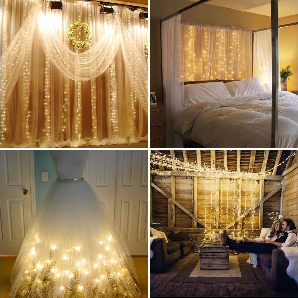 Crystal LED String Lights Curtain Lights