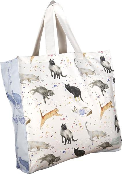 Lona de algodón bolsa para gatos y gatitos de diseño pintado a ...