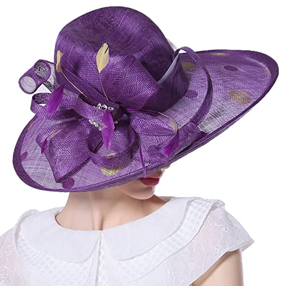 June s Young Women Derby Church Hat Sinamay Vintage Wedding Party ... fcd46629c9