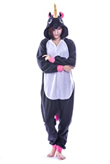 USTOP Unicorn Onesie Adult New Kigurumi Cosplay Pajamas Animal Costume Outfit