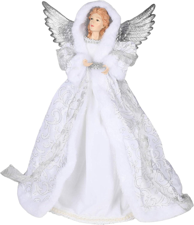 Roman 133127 Tree Topper Angel-Silvery Grey 18 inch
