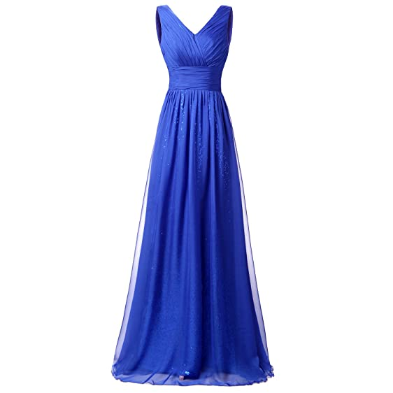 zeeber Sequin Royal Blue Formal Evening Gowns Prom Party Dresses ...