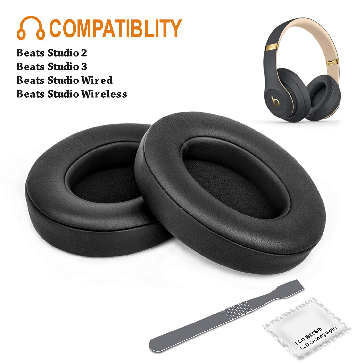 Almohadillas Beats Studio 2 Wired/wireless Y Beats Studio 3