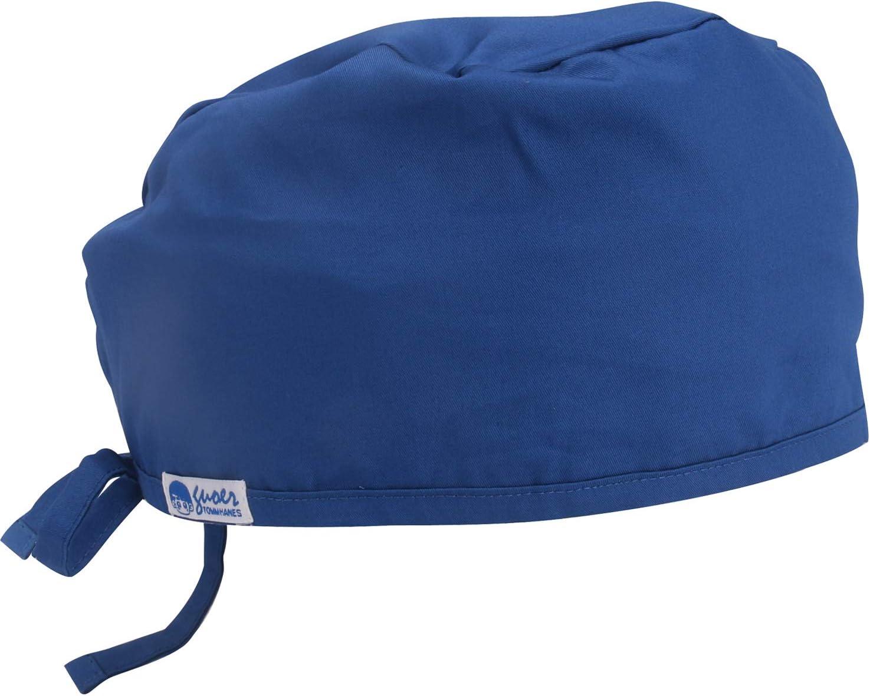 OXUO 3pz Cappello Cappellini da Chirurgico Cap Sanitari per Infermieri Medico,Berretto da Lavoro in Cotone Berretto per Medico Infermiere Veterinario Dentista