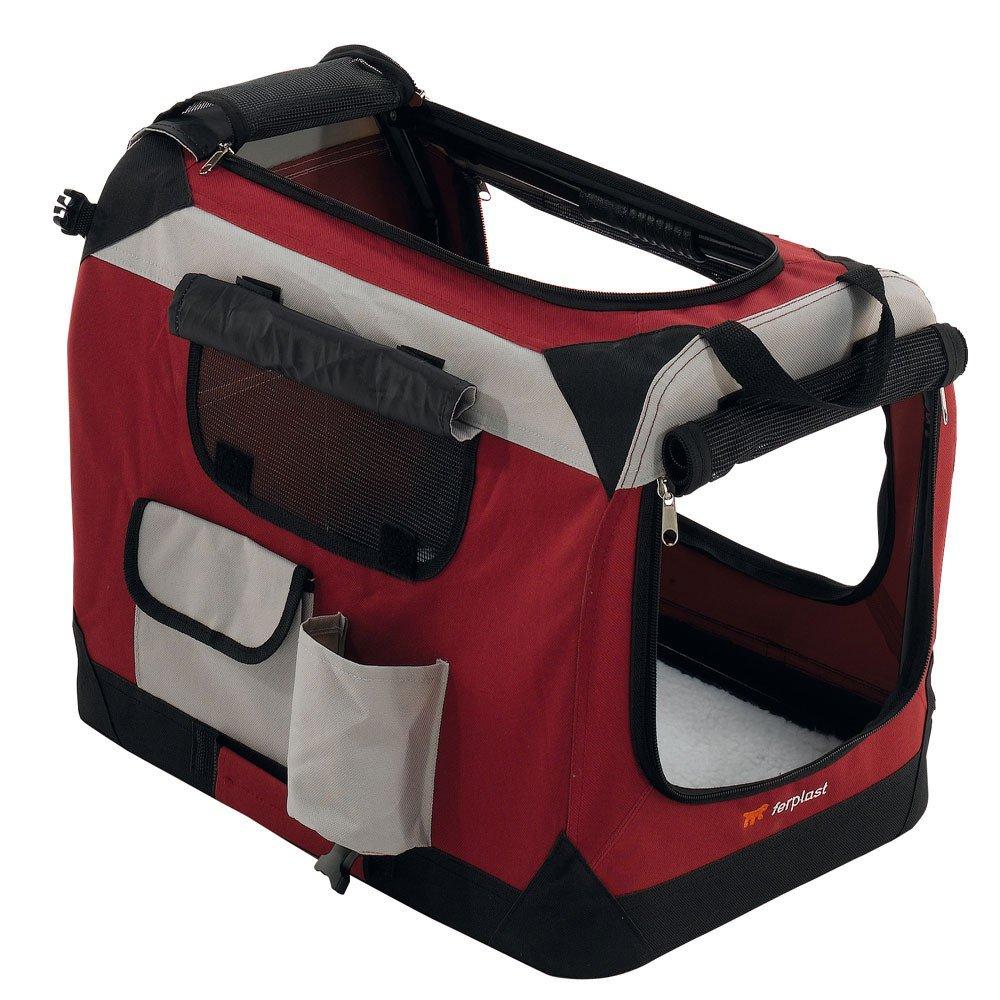 FERPLAST - Caseta portátil para perro Holiday 4 60 x 42 x 42 cm y cuenco antideslizante: Amazon.es: Productos para mascotas