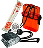 UST Watertight Survival Kit 1.0 with Durable, Lightweight Construction, Survival Blanket and Emergency Tools while…