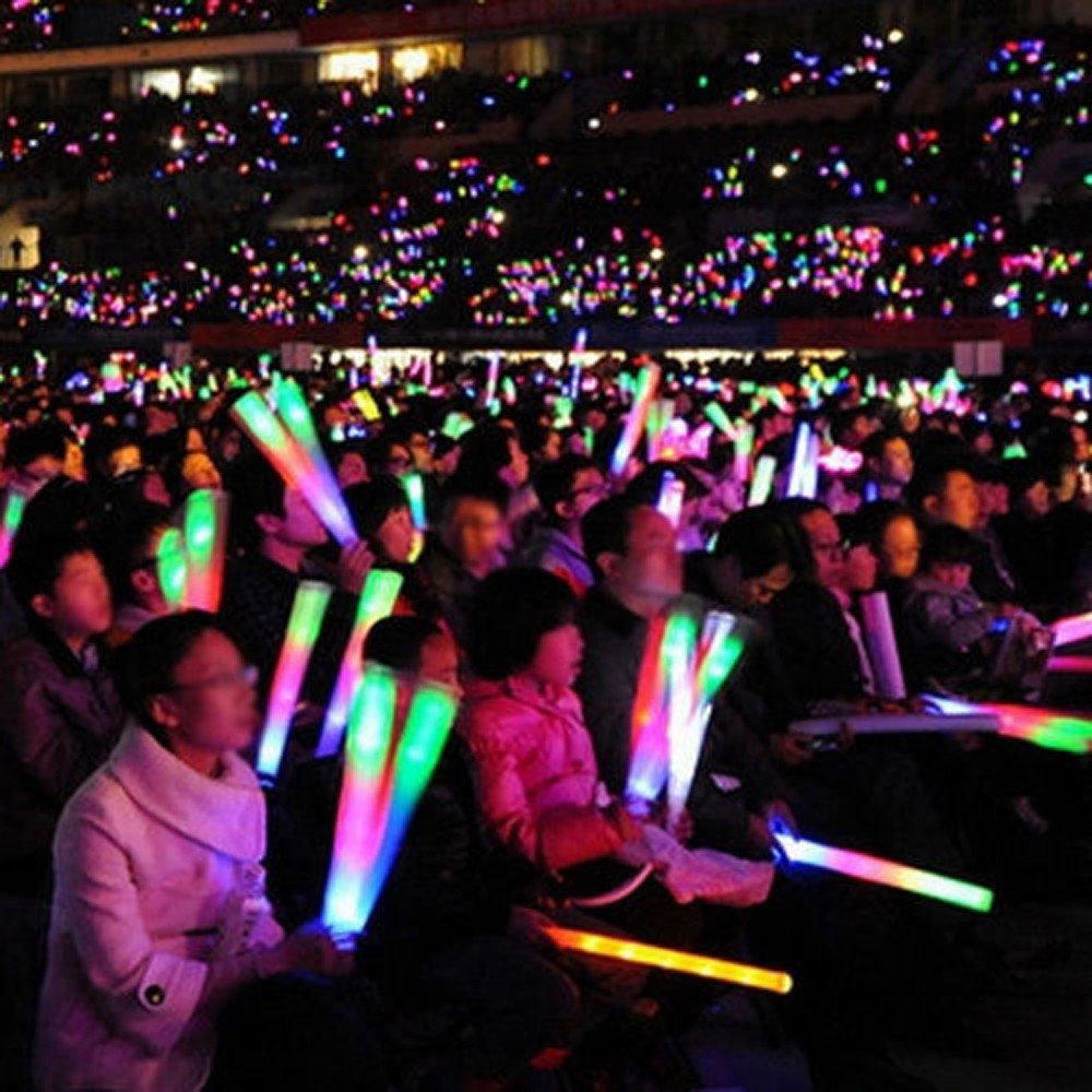Wenini LED Foam Sticks Toy - Light Up Foam Sticks Glow Party LED Flashings Vocal Concert Reuseable Hot (White) by Wenini (Image #2)
