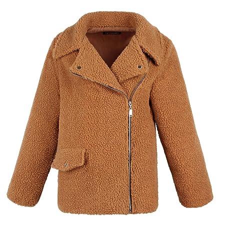 Amazon.com : Clearance! HOSOME Women Wool Coat Warm Artificial Zipper Jacket Winter Parka Outerwear tops : Grocery & Gourmet Food