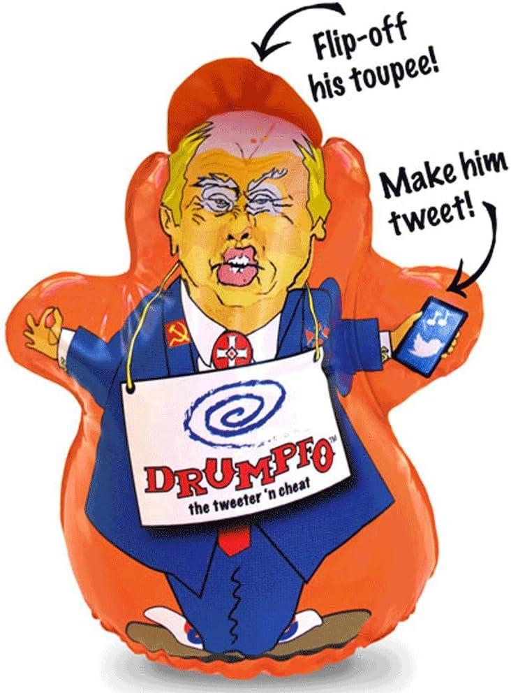 DRUMPFO Donald Trump Funny Stress Relief Toy - Bop him, Knock him, Pinch him Make him Tweet!