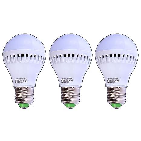 Pack de 3 - Bombilla LED E27, 5 W, 220/230 V, 140 °, iluminación ...