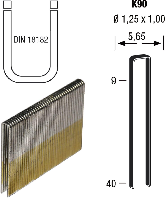 3600/Lot de Revo Tool K90 longueur 30/mm 30/mm de VZ Pinces en fil dacier galvanis/é et r/ésin/é